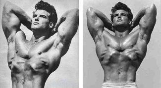 steve reeves caved in chest