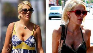 tori spelling sunken chest