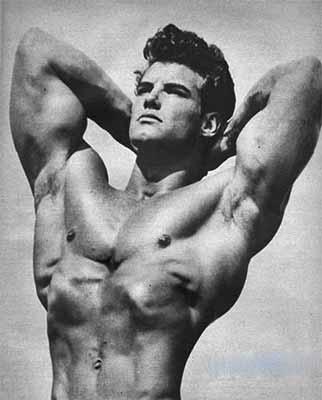 bodybuilder with well developed pectoralis musculature