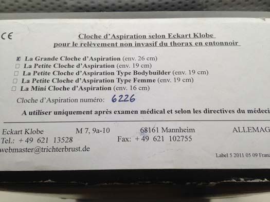 eckart klobe vacuum bell order in french